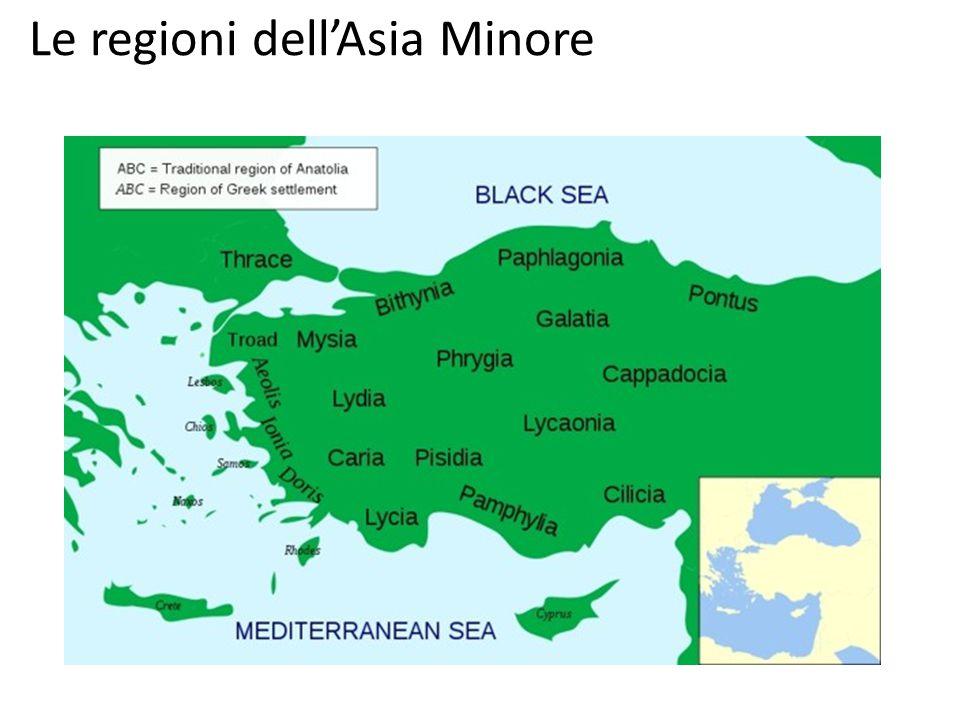 Le regioni dell'Asia Minore