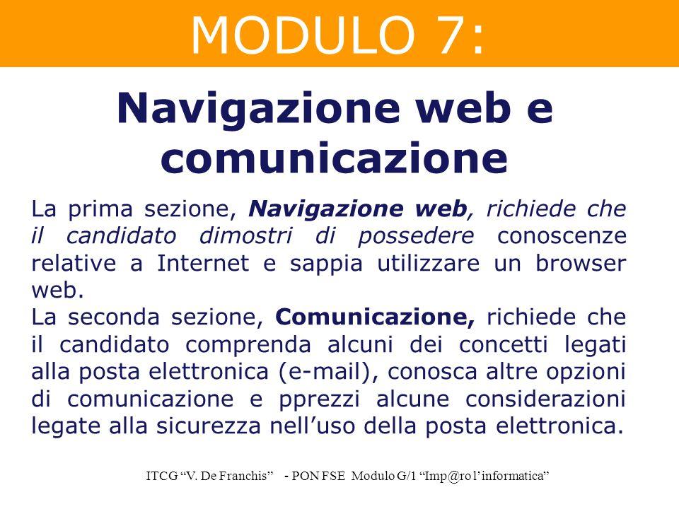 Navigazione web e comunicazione