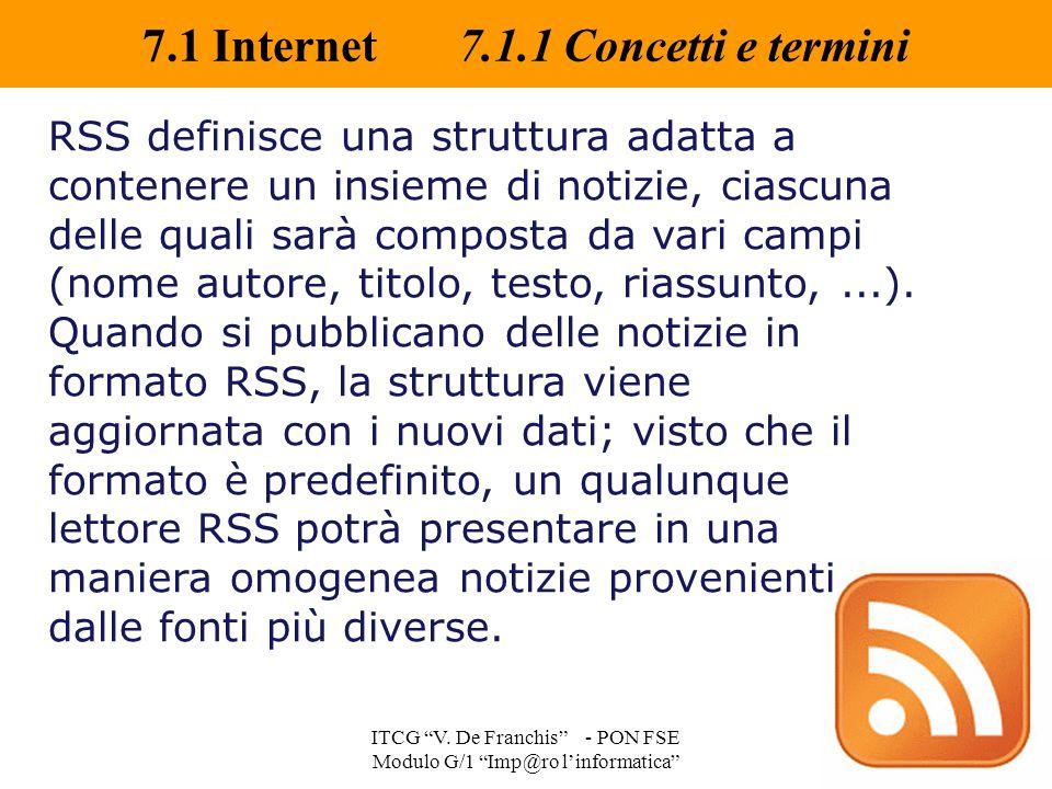 7.1 Internet 7.1.1 Concetti e termini