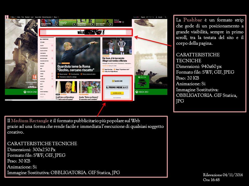 CARATTERISTICHE TECNICHE Dimensioni: 940x60 px