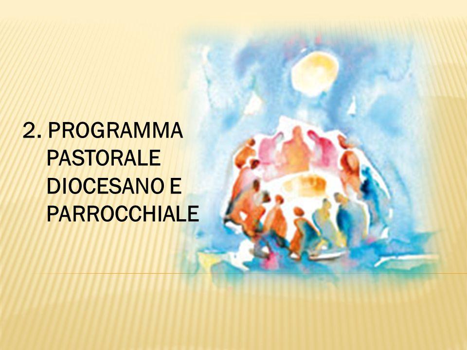 2. PROGRAMMA PASTORALE DIOCESANO E PARROCCHIALE