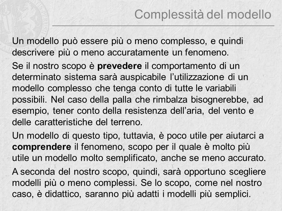 Complessità del modello