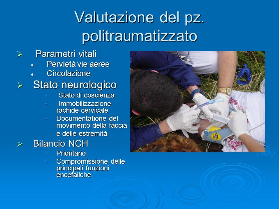 Valutazione del pz. politraumatizzato