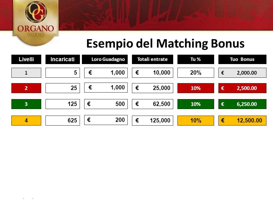 Esempio del Matching Bonus