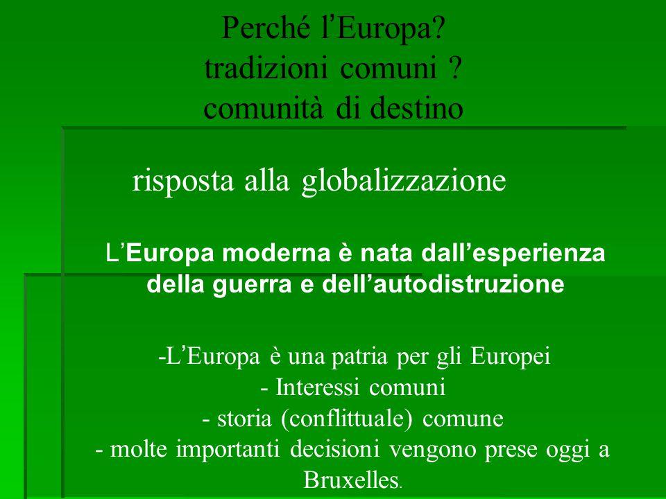 Perché l'Europa tradizioni comuni comunità di destino
