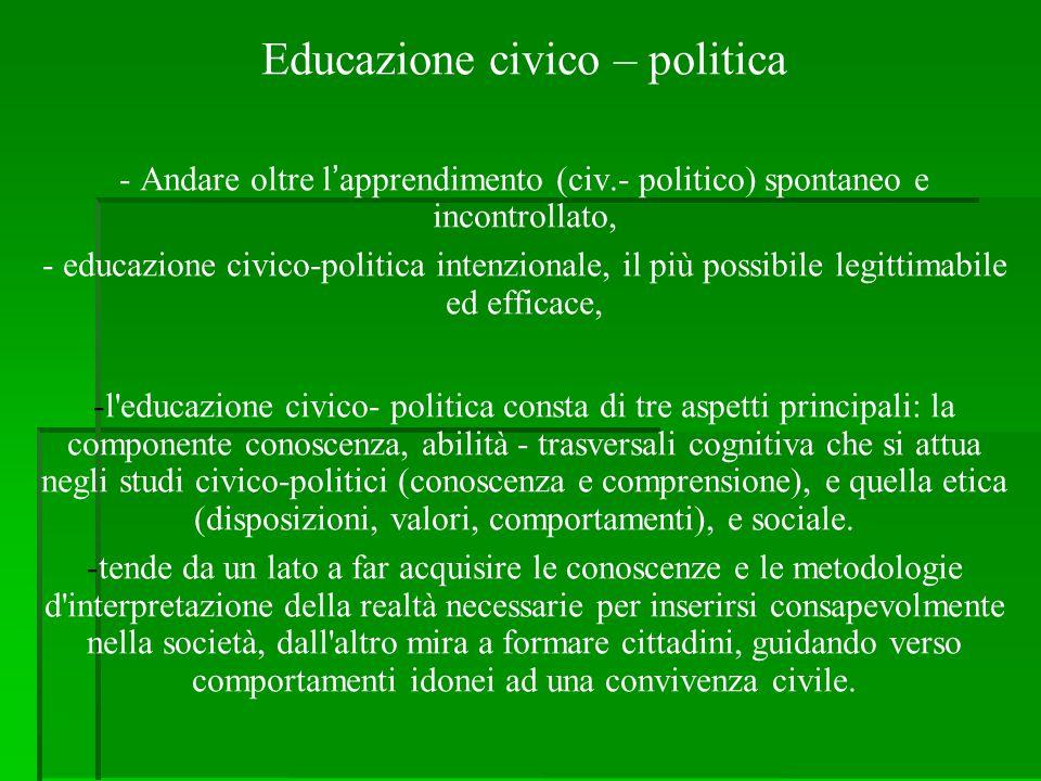 Educazione civico – politica