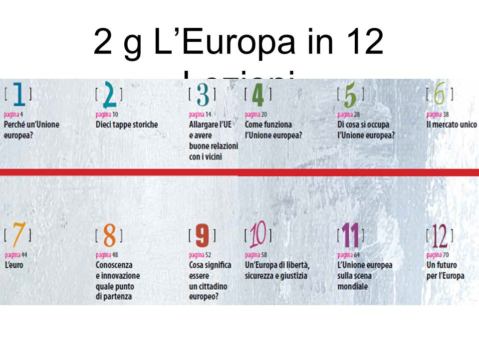 2 g L'Europa in 12 Lezioni