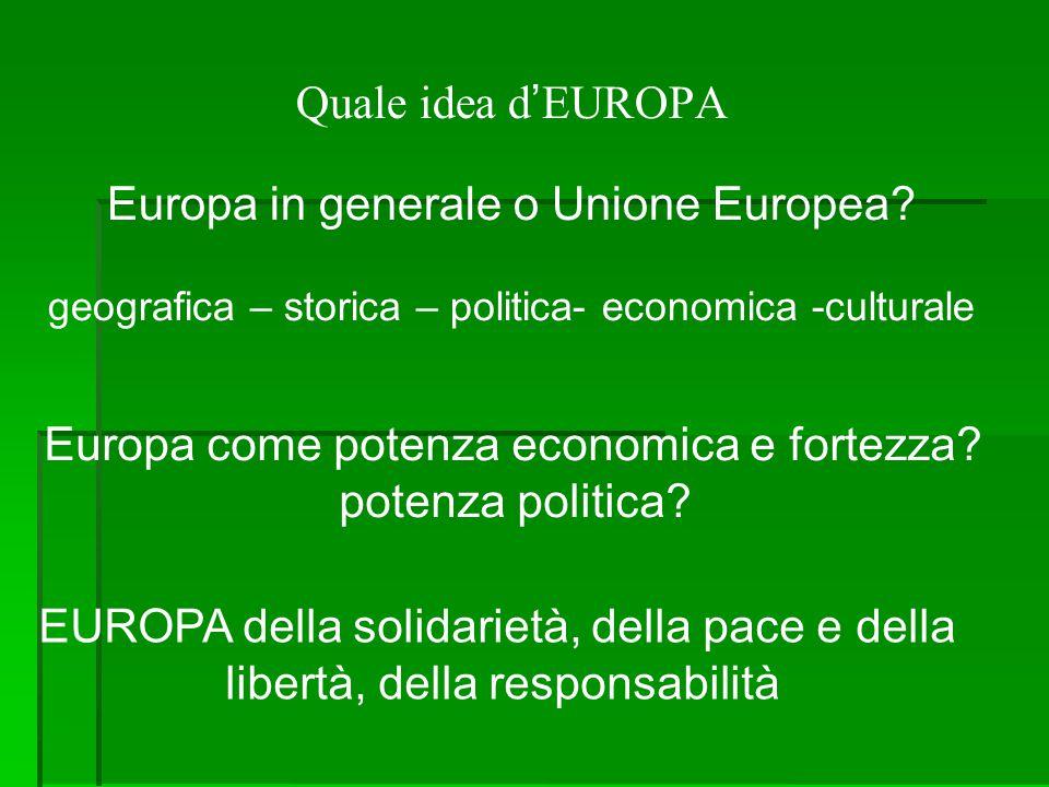 Europa in generale o Unione Europea