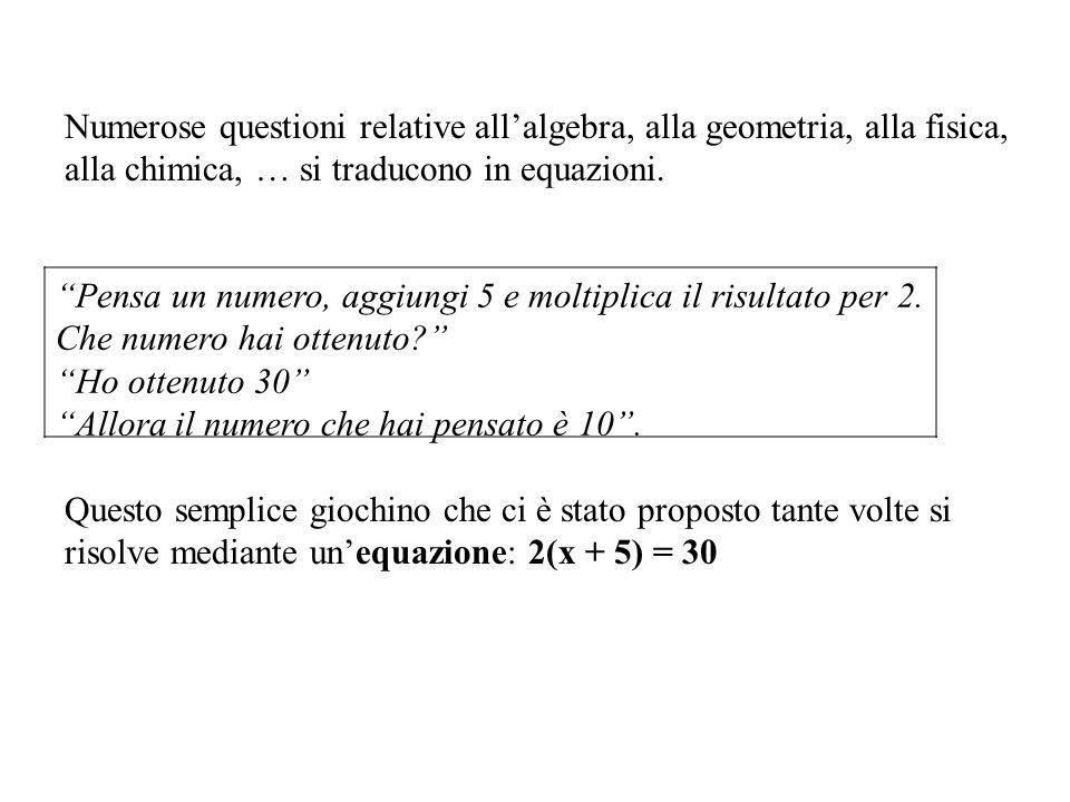 Numerose questioni relative all'algebra, alla geometria, alla fisica,