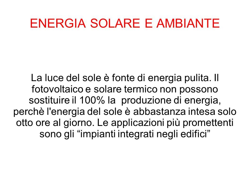 ENERGIA SOLARE E AMBIANTE