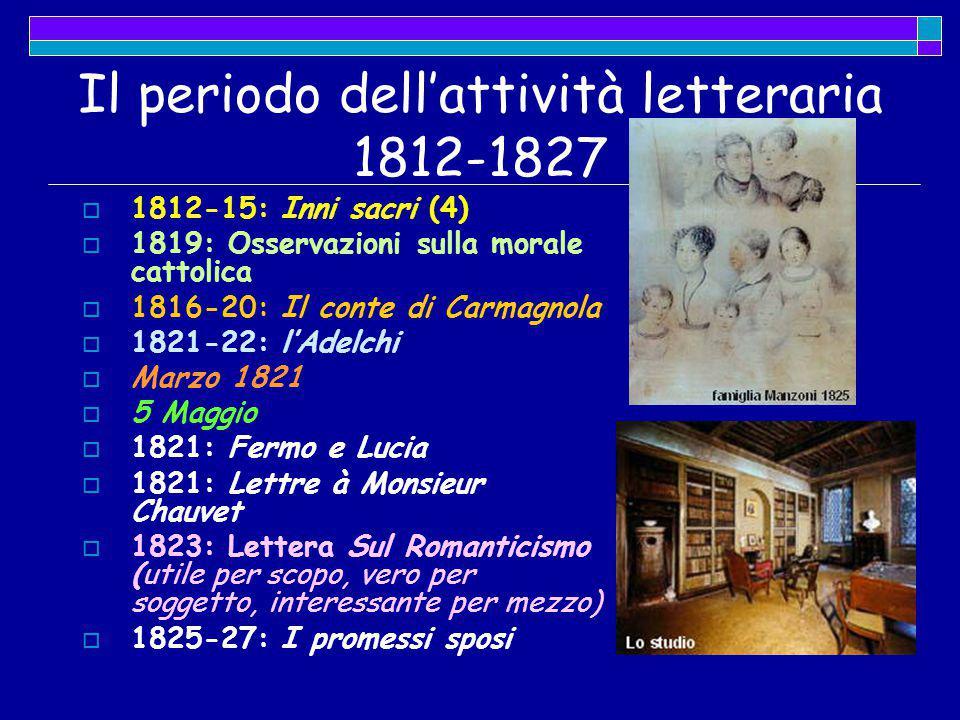 Il periodo dell'attività letteraria 1812-1827