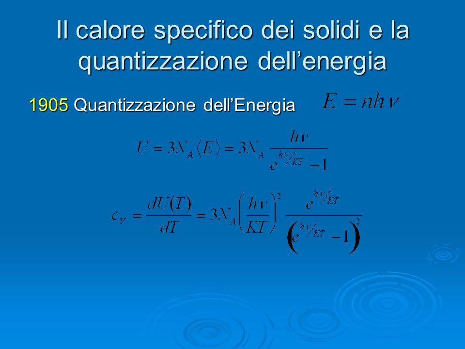 Il calore specifico dei solidi e la quantizzazione dell'energia