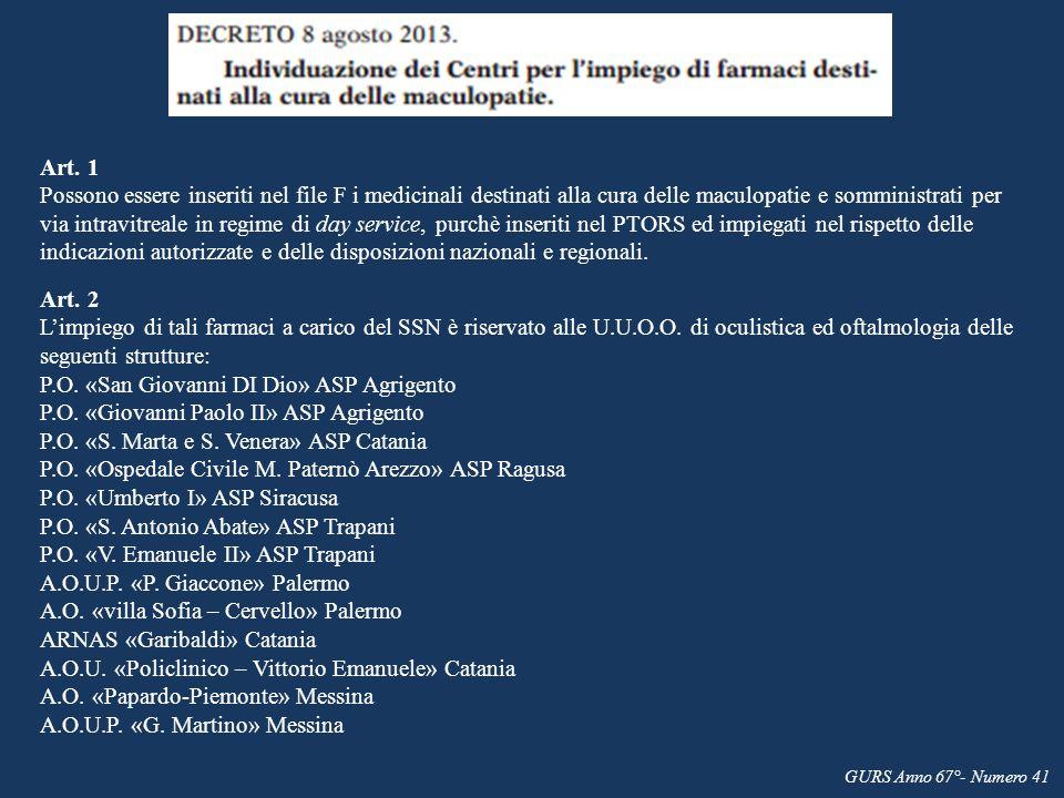 P.O. «San Giovanni DI Dio» ASP Agrigento