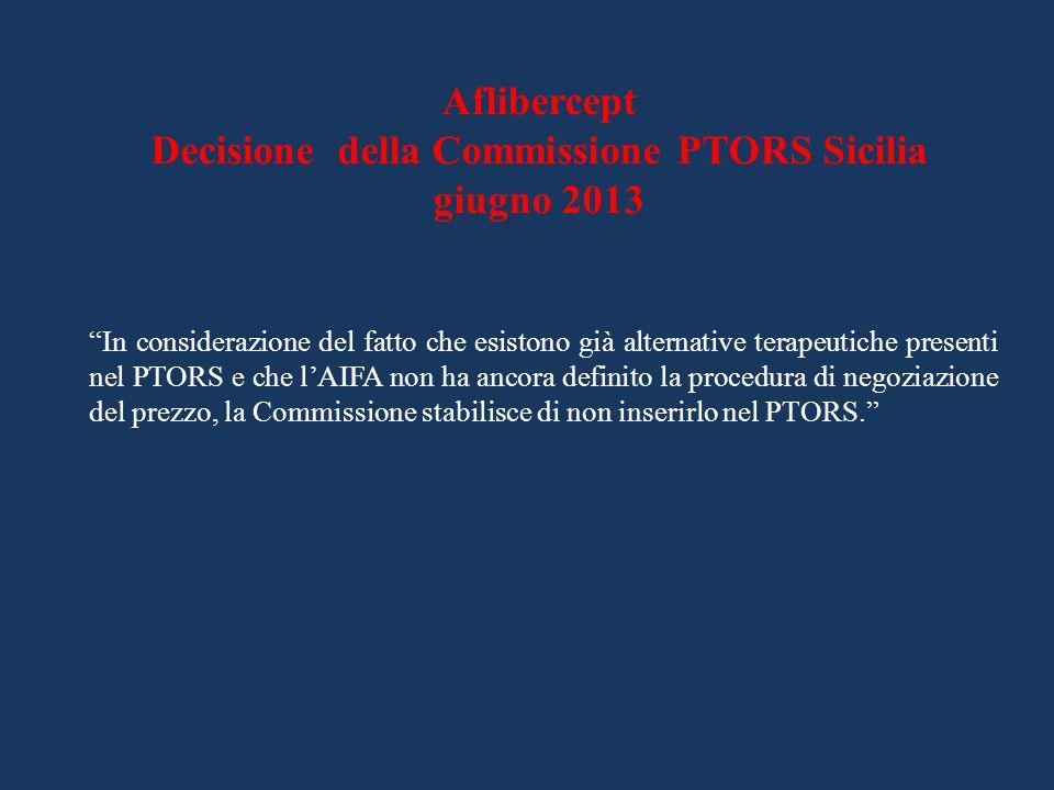 Decisione della Commissione PTORS Sicilia