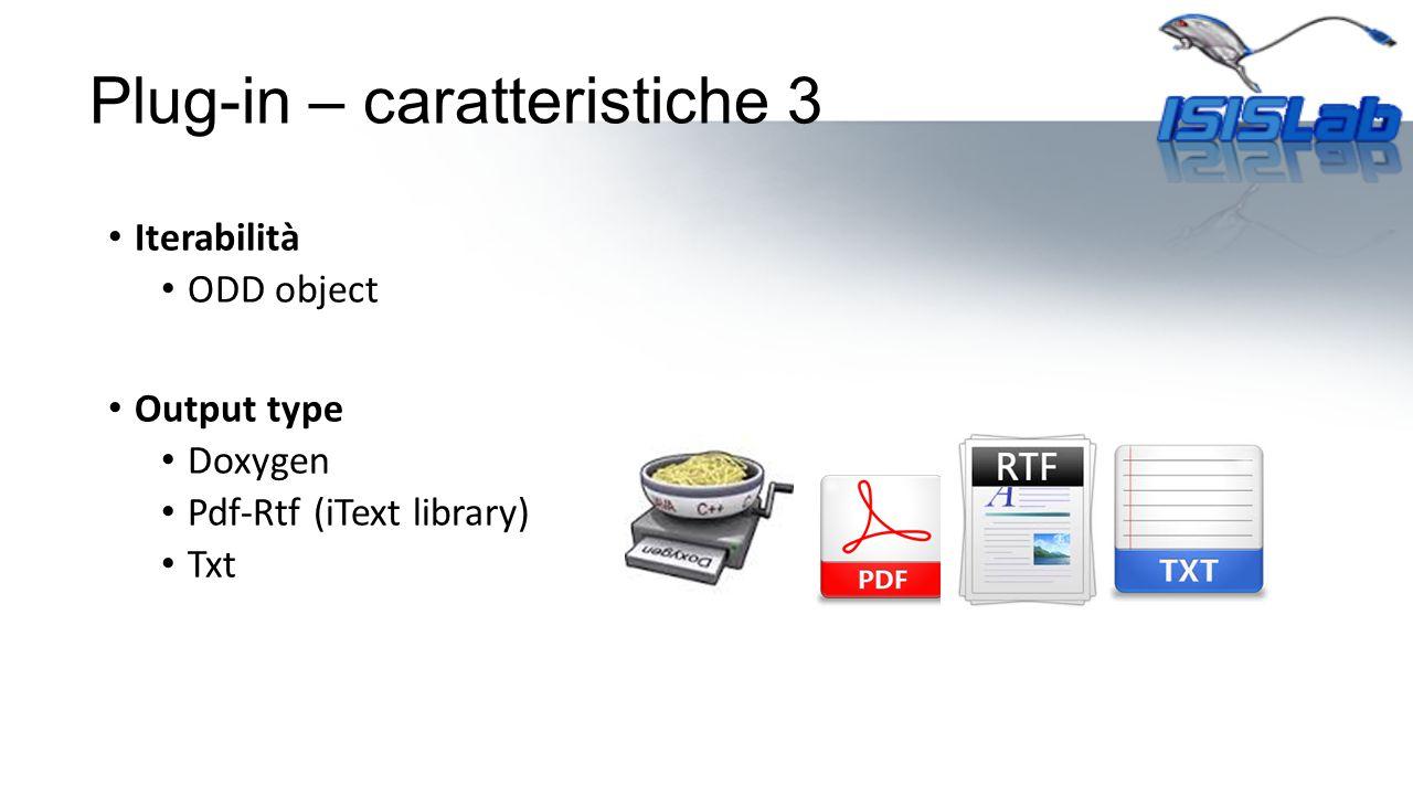 Plug-in – caratteristiche 3