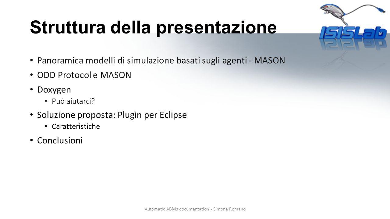 Struttura della presentazione