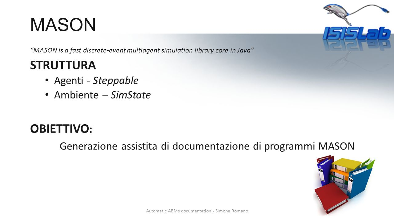 Automatic ABMs documentation - Simone Romano