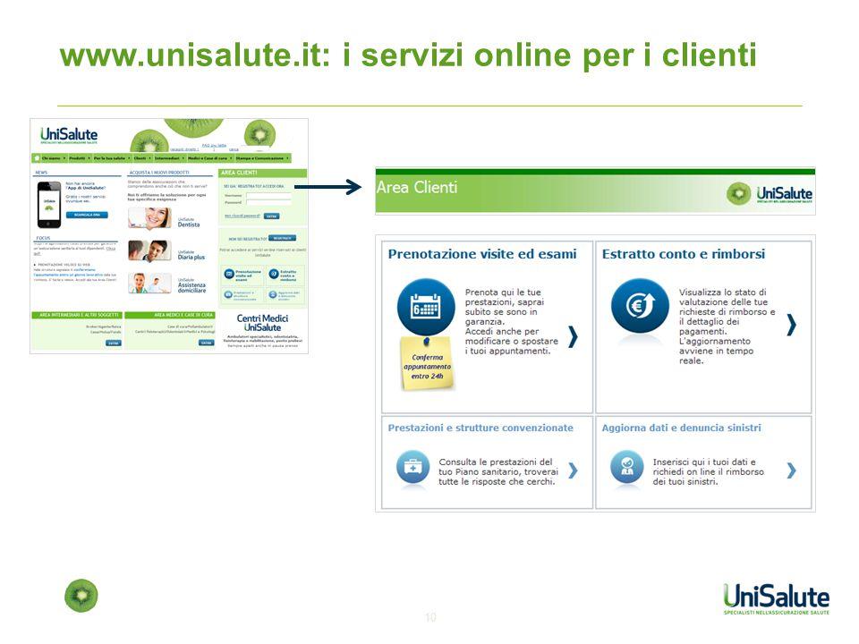 www.unisalute.it: i servizi online per i clienti