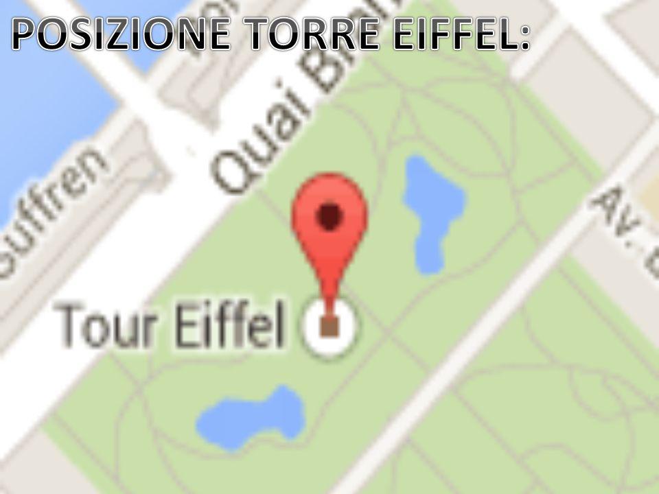 POSIZIONE TORRE EIFFEL: