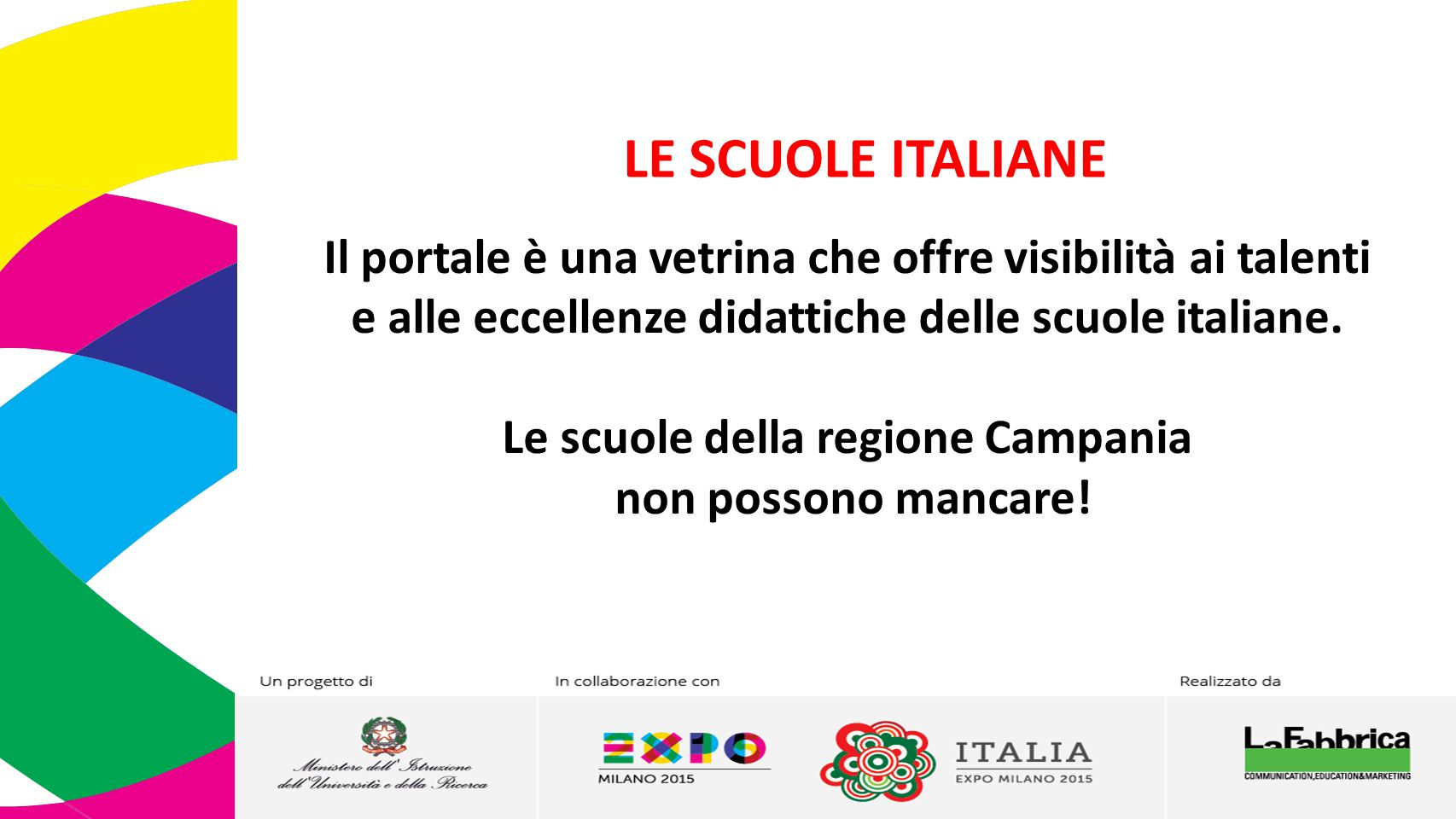 Le scuole della regione Campania