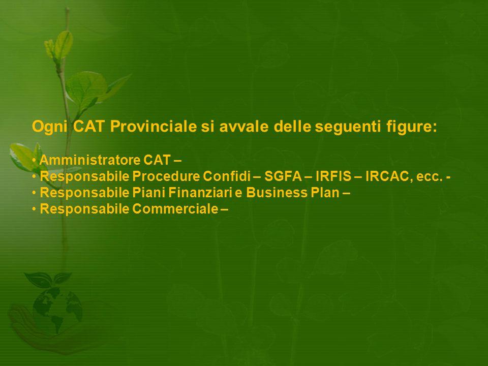 Ogni CAT Provinciale si avvale delle seguenti figure: