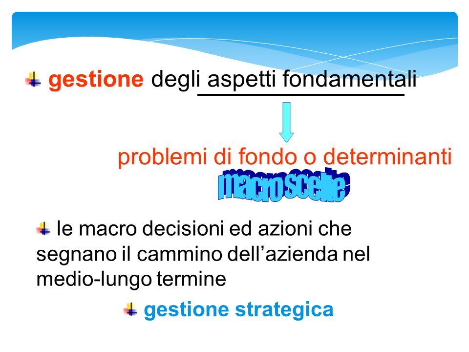 gestione degli aspetti fondamentali