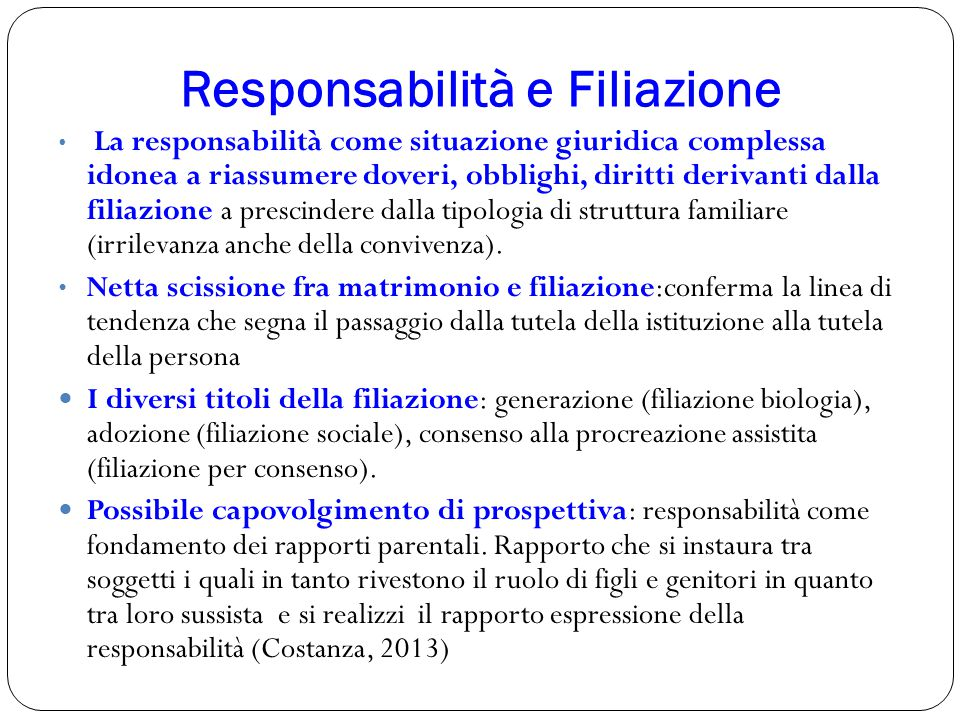 Responsabilità e Filiazione