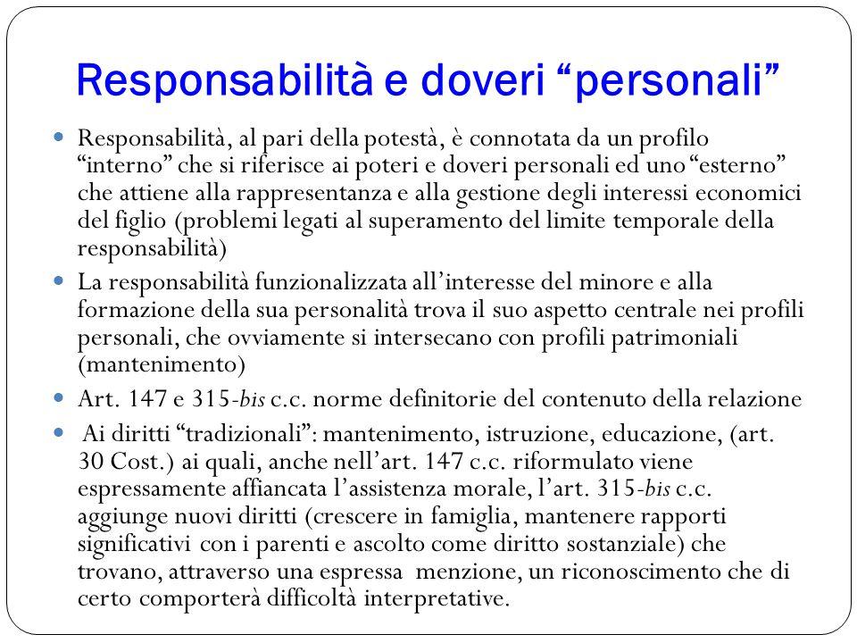 Responsabilità e doveri personali