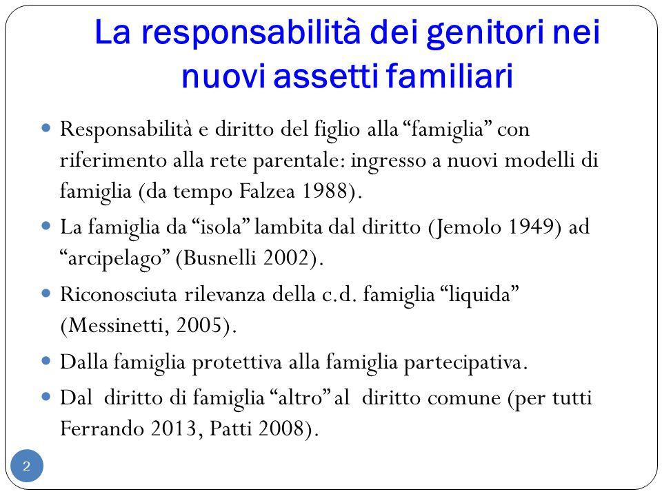 La responsabilità dei genitori nei nuovi assetti familiari