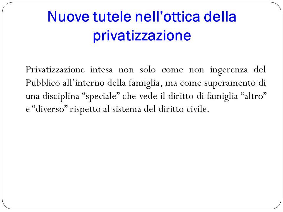 Nuove tutele nell'ottica della privatizzazione