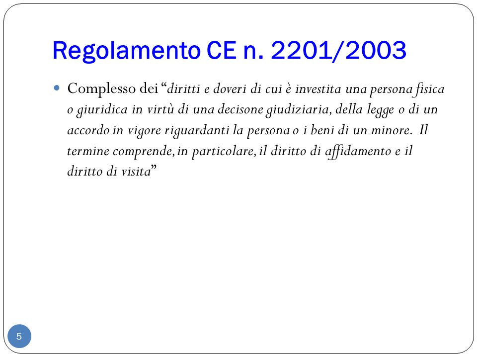 Regolamento CE n. 2201/2003