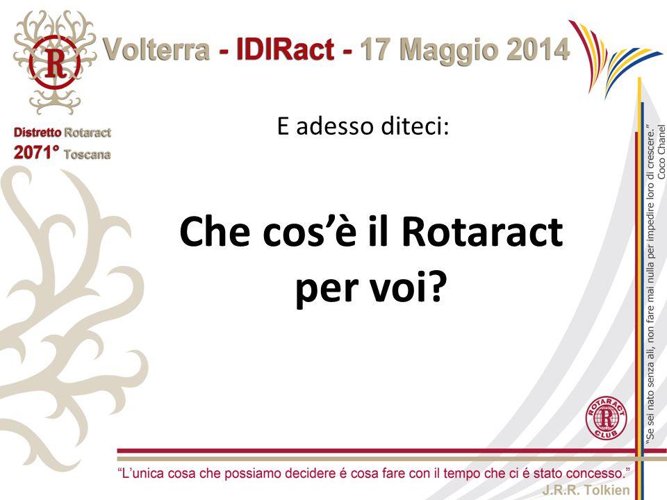 Che cos'è il Rotaract per voi