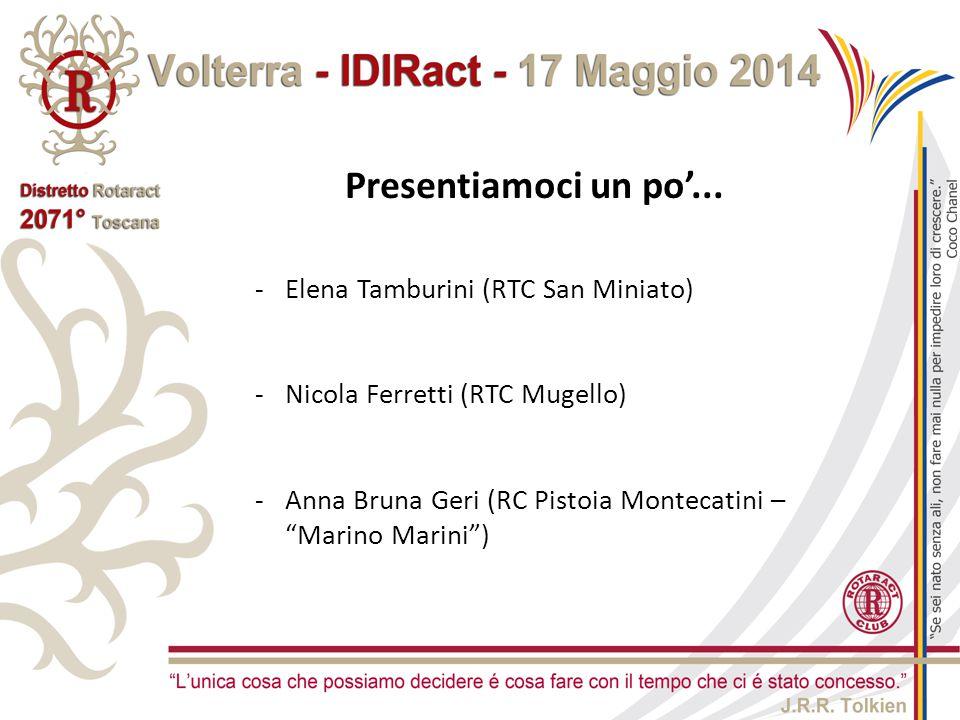 Presentiamoci un po'... Elena Tamburini (RTC San Miniato)