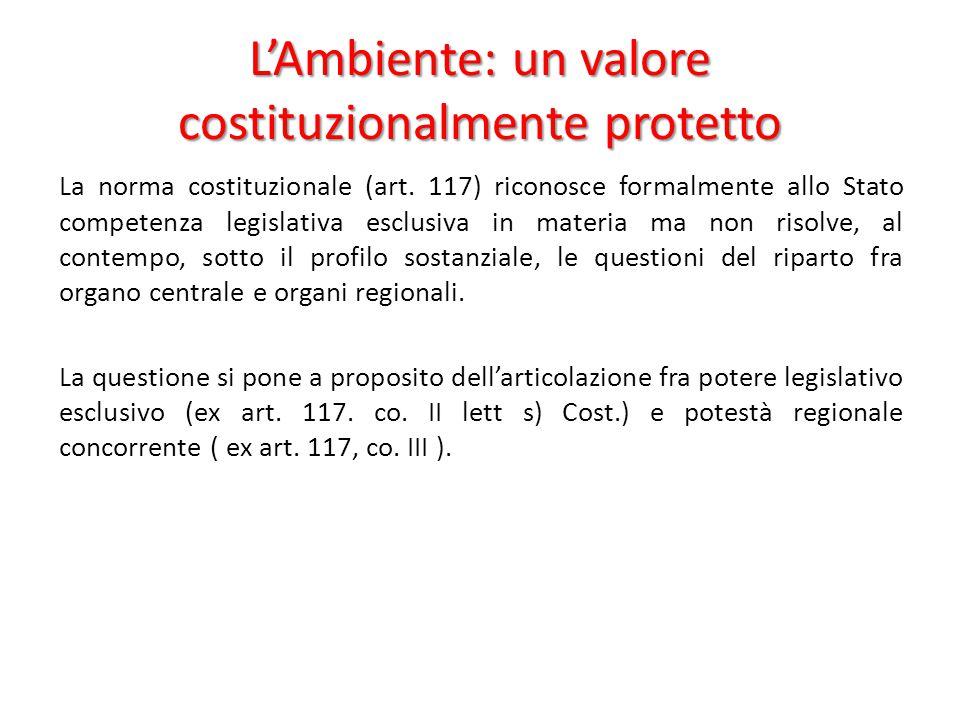 L'Ambiente: un valore costituzionalmente protetto