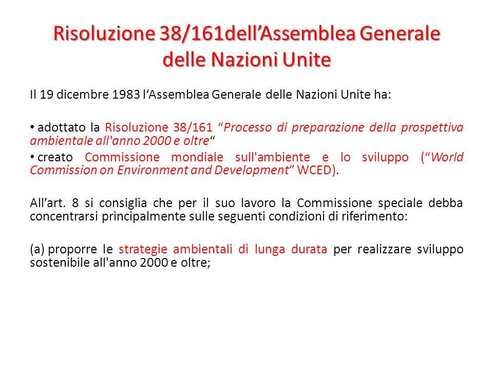 Risoluzione 38/161dell'Assemblea Generale delle Nazioni Unite