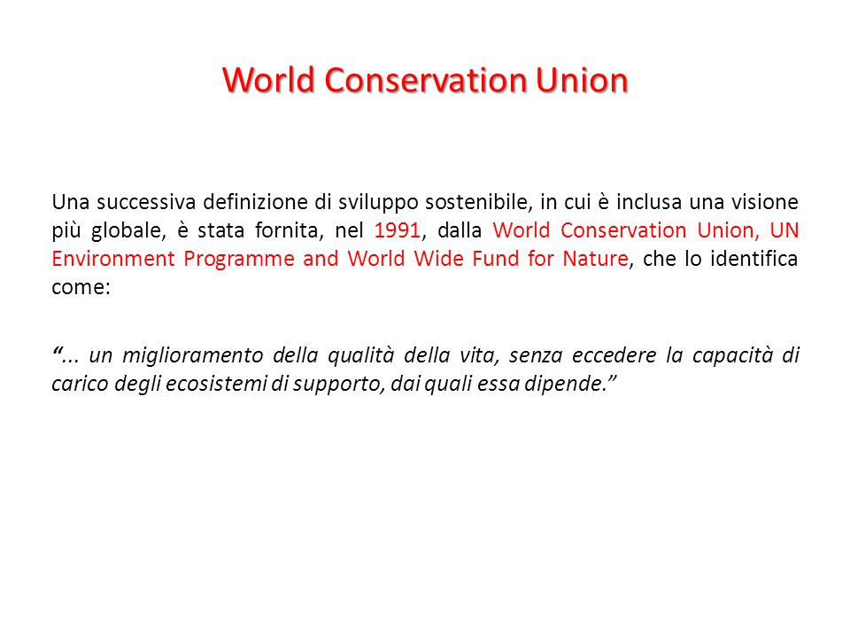 World Conservation Union