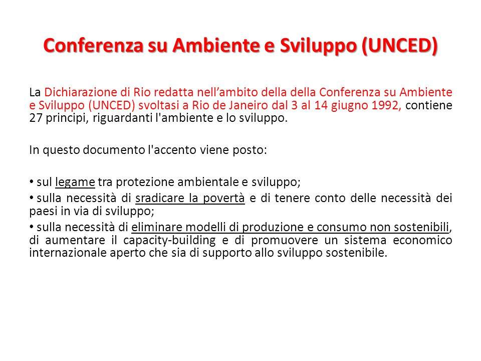 Conferenza su Ambiente e Sviluppo (UNCED)