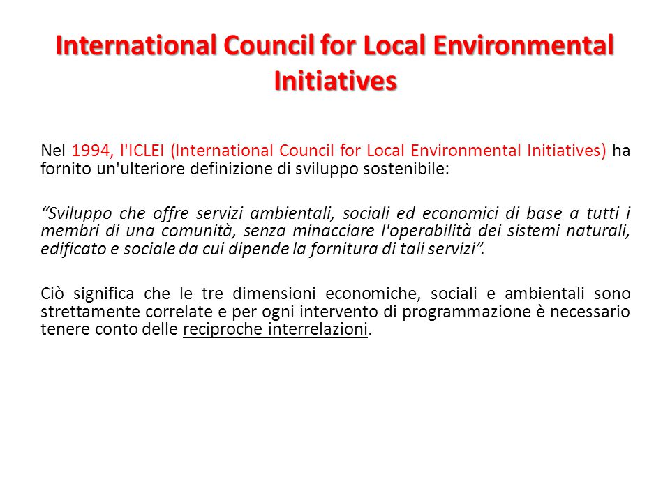 International Council for Local Environmental Initiatives
