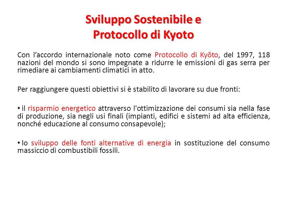 Sviluppo Sostenibile e Protocollo di Kyoto