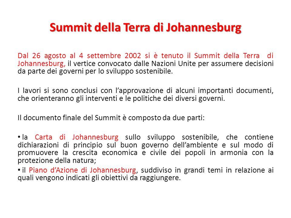 Summit della Terra di Johannesburg