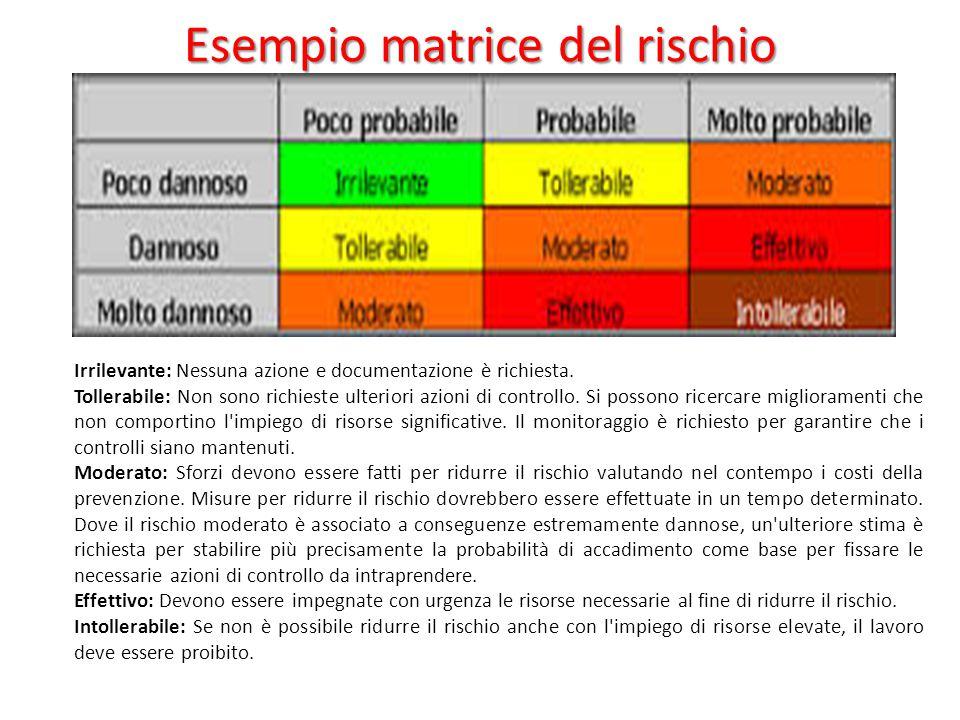 Esempio matrice del rischio