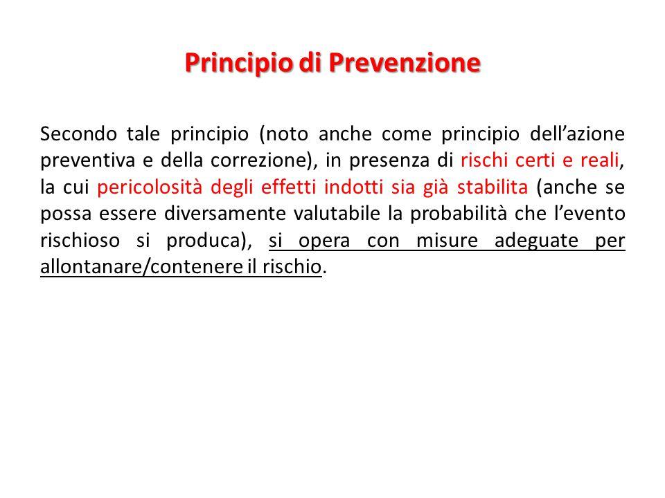 Principio di Prevenzione