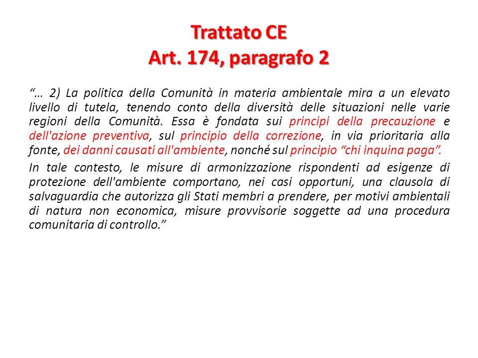 Trattato CE Art. 174, paragrafo 2