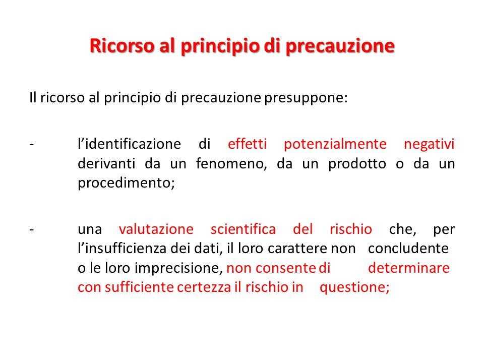 Ricorso al principio di precauzione