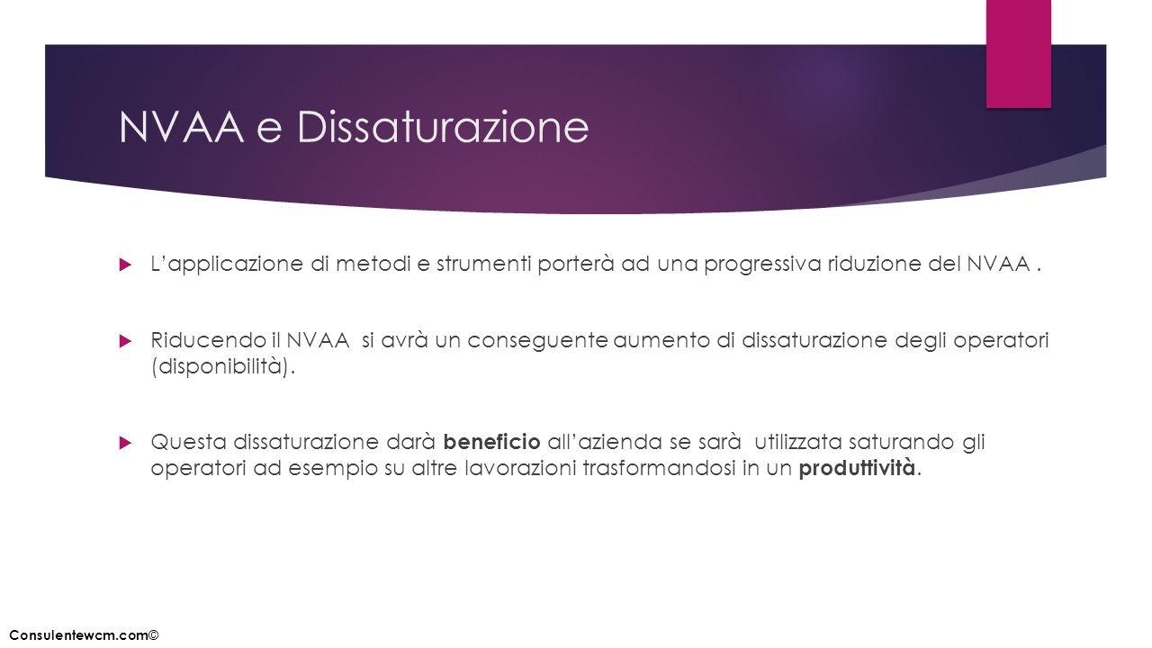 NVAA e Dissaturazione L'applicazione di metodi e strumenti porterà ad una progressiva riduzione del NVAA .