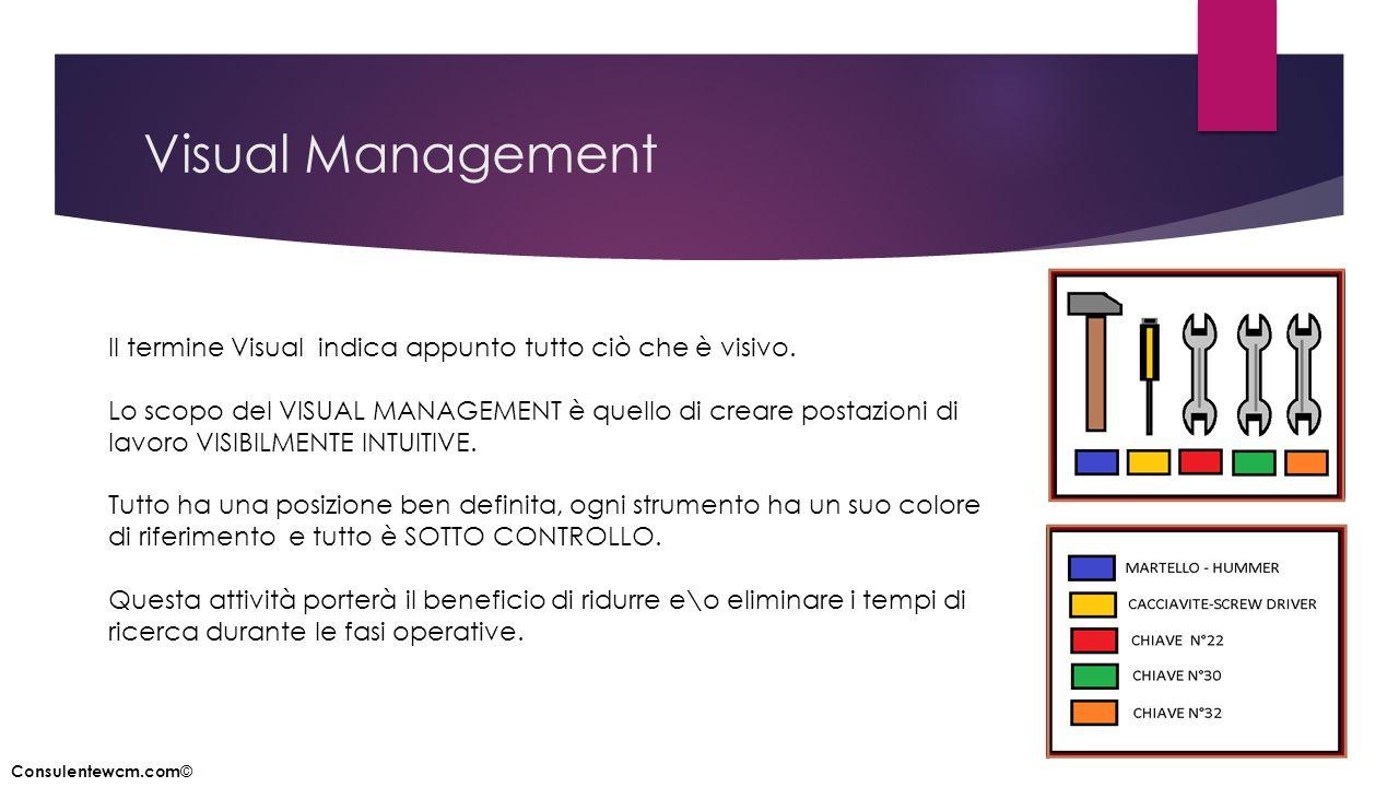 Visual Management Il termine Visual indica appunto tutto ciò che è visivo.