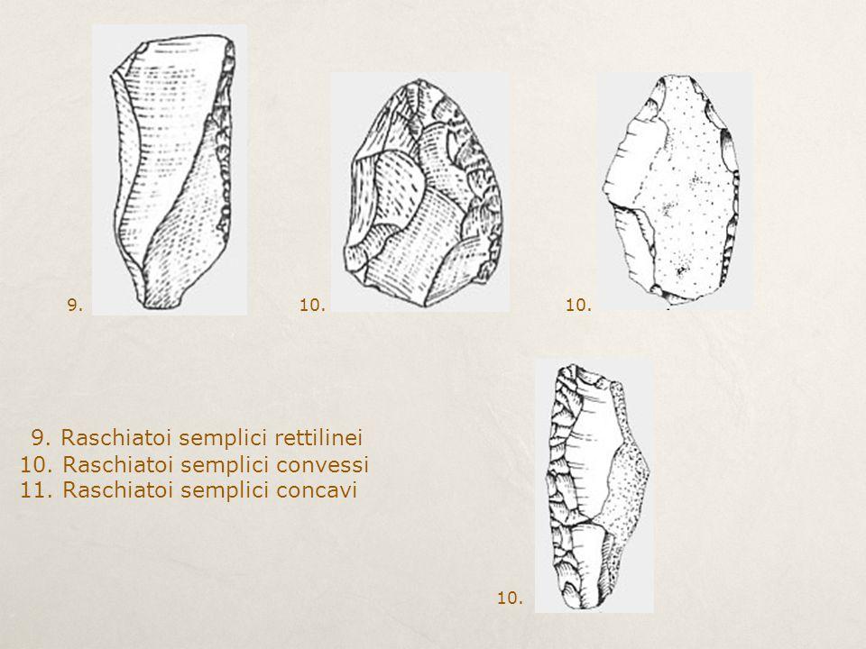 9. Raschiatoi semplici rettilinei 10. Raschiatoi semplici convessi