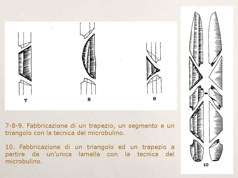 7-8-9. Fabbricazione di un trapezio, un segmento e un triangolo con la tecnica del microbulino.