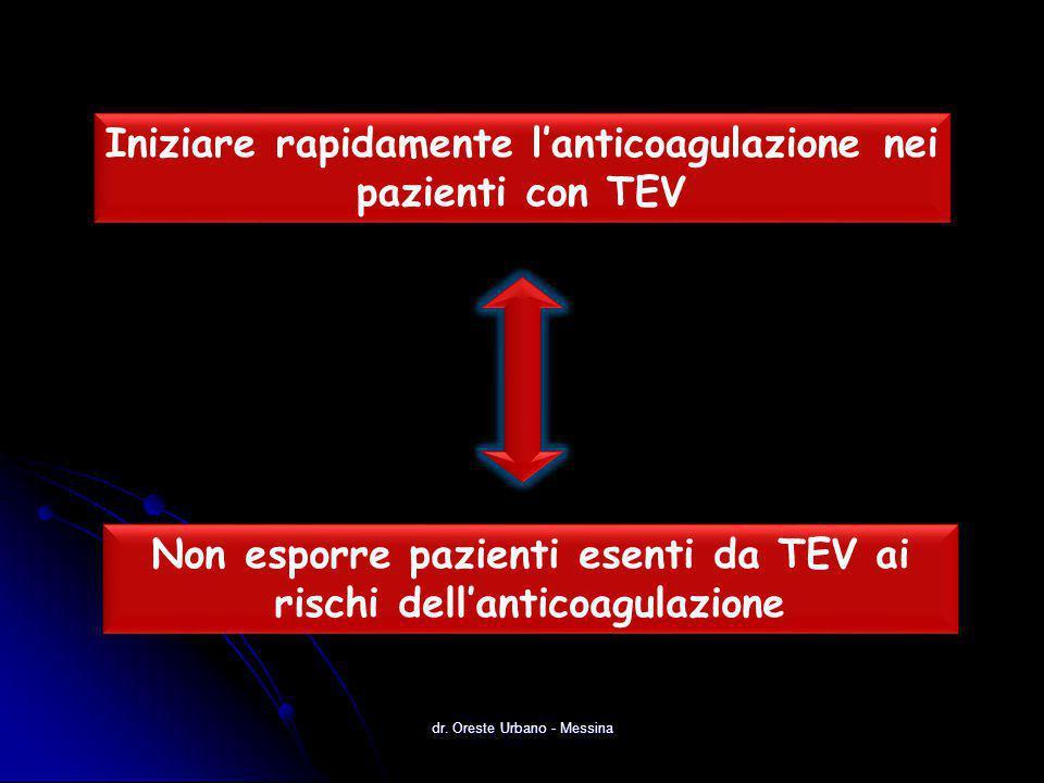 Iniziare rapidamente l'anticoagulazione nei pazienti con TEV