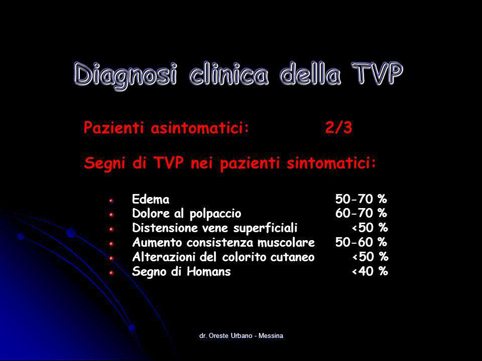 Diagnosi clinica della TVP